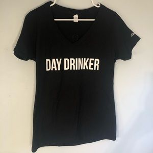 NWOT Short Sleeve DAY DRINKER XL Black Tee